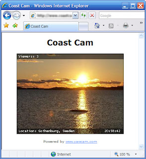 how the image stream can look in a browser