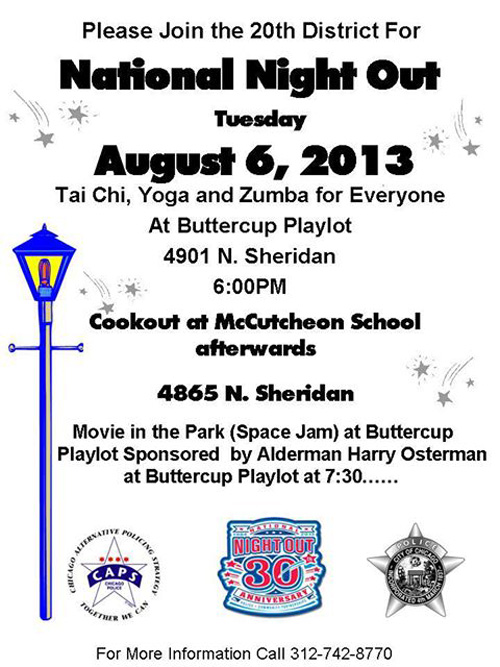 Uptown Update: National Night Out In The 20th District