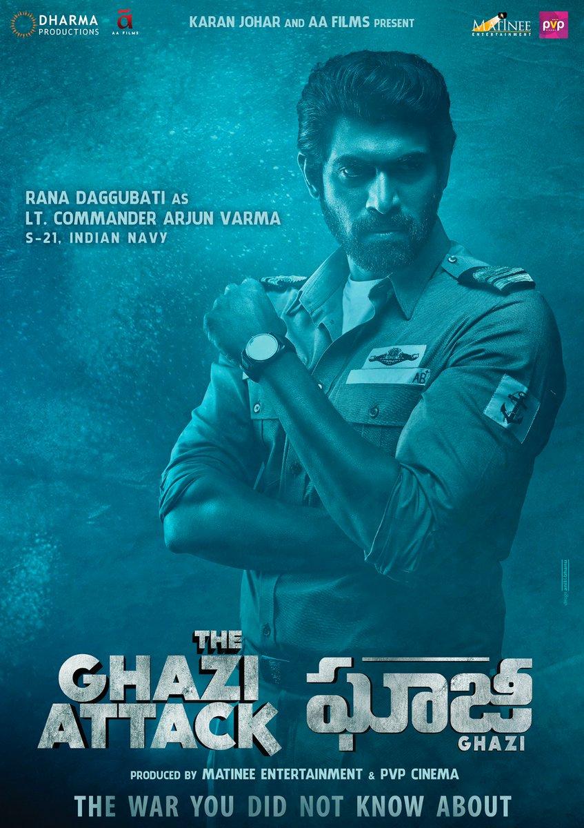 rana daggubati in the ghazi attack latest posters photos in the ghazi attack latest posters