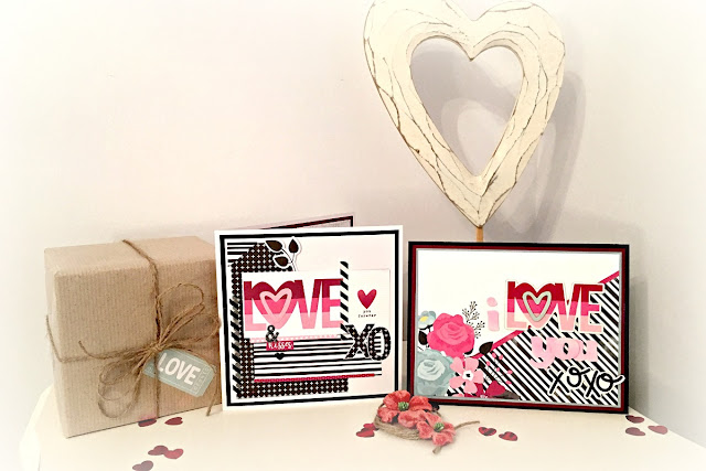 Cards valentine Tracee Provis for Papermaze simple stories love & adore