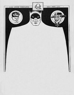 Hoja membretada con diseño retro de Batman