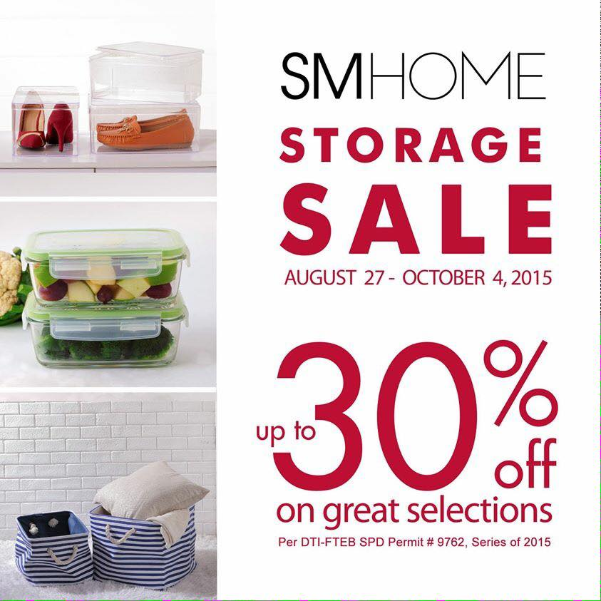 SM Home Storage SALE: Aug Oct 2015