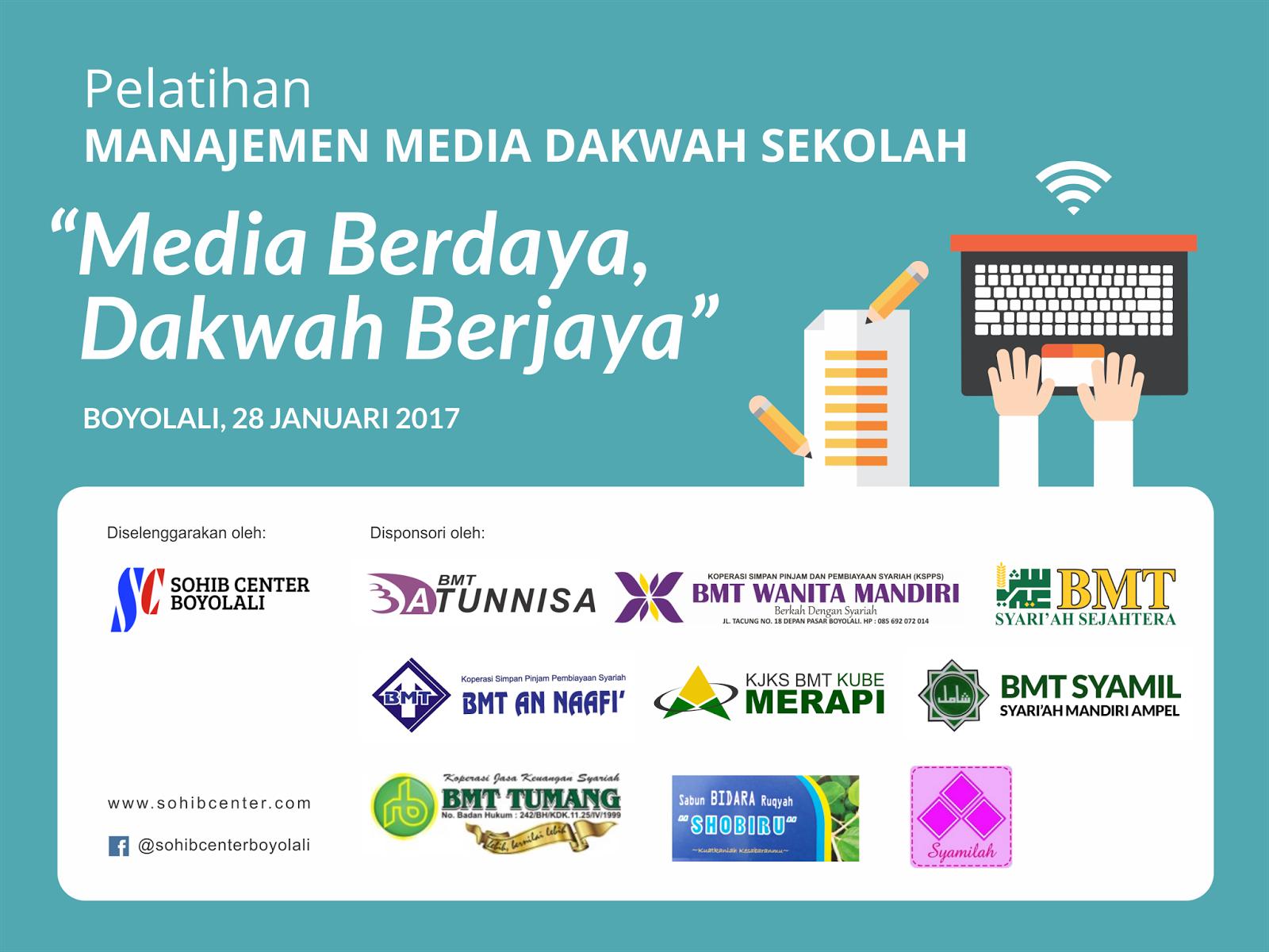 Pelatihan Manajemen Media Dakwah Sekolah Sohib Center Boyolali