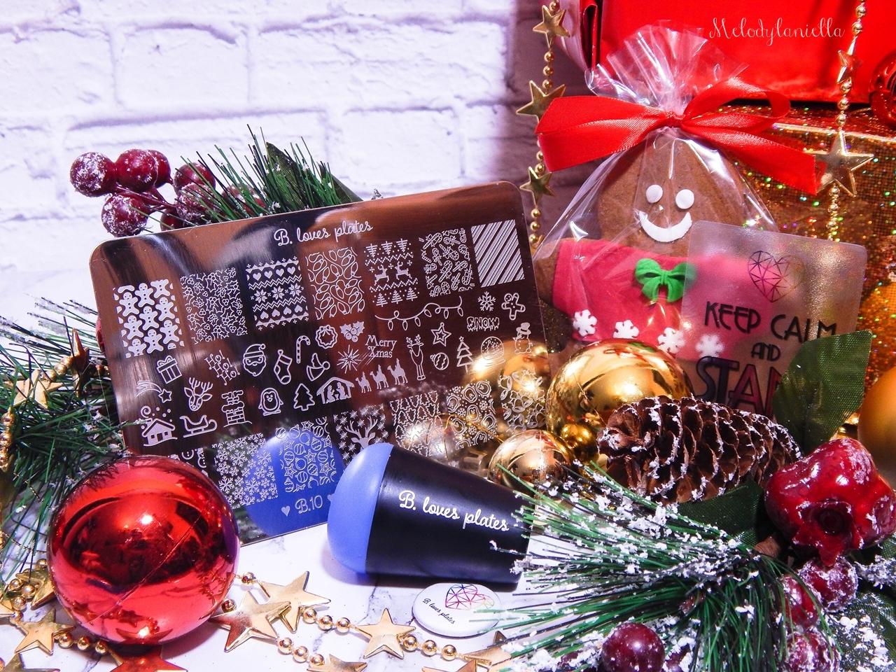 8 pomysł na przent świąteczny dla lakieromaniaczki paznokciowej stemple b love plates stemple na paznokcie dobrej jakości jak robić stemple wzorki ozdoby na paznokciach święta boże narodzenie nietypowe