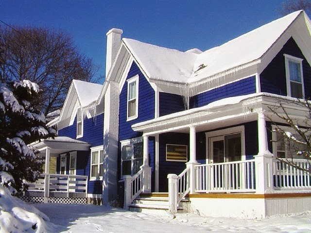 exterior wall paint blue