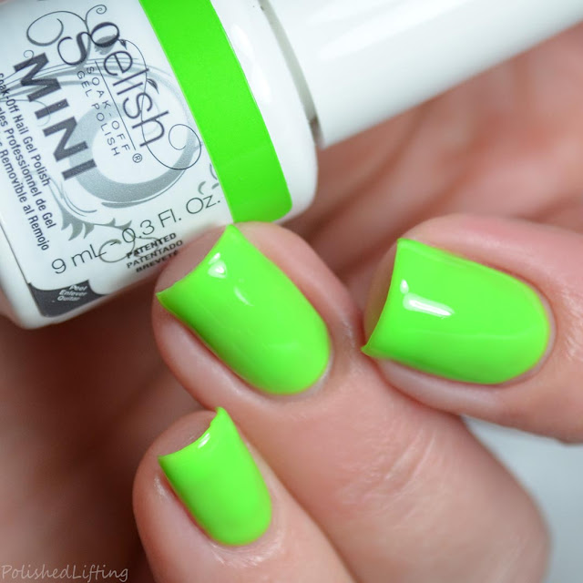 neon green gel polish