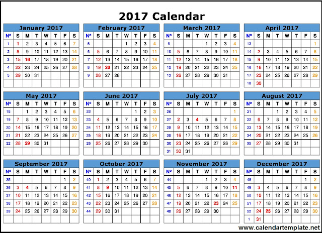 free-complete-printable-calendar-template-2017