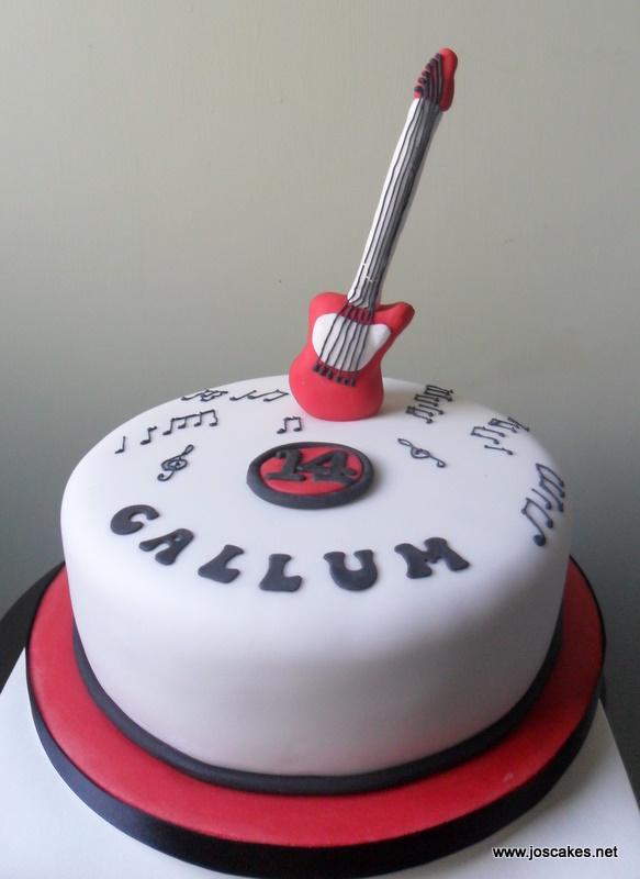 Jo S Cakes Guitar Themed Birthday Cake