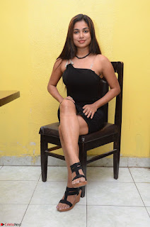 Vrushali Gosavi in strapless Short Black Dress At Follow Follow U Audio Launch 012.JPG