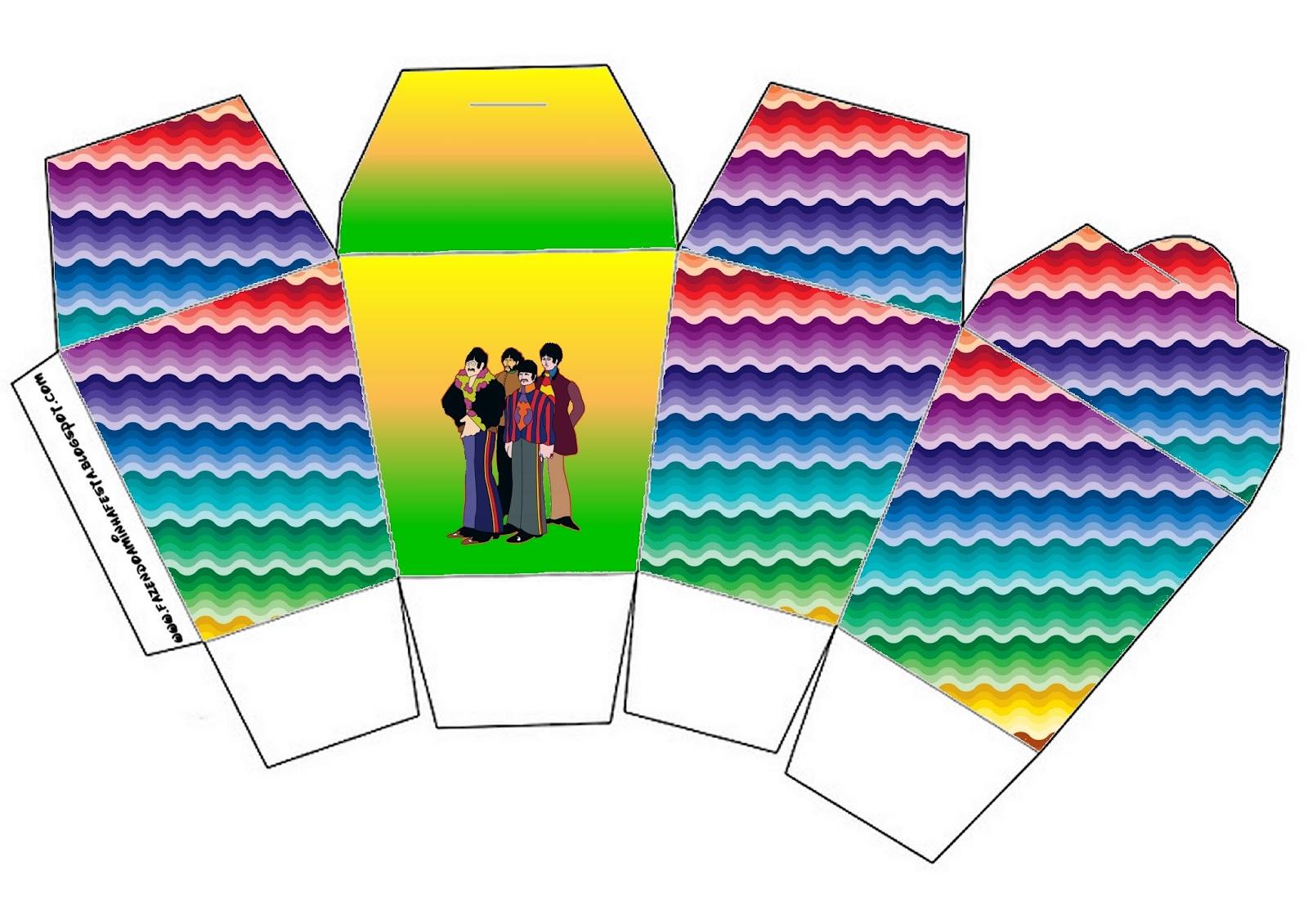 Beatles Yellow Submarine Free Printable Boxes