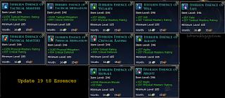 U19 t8 essences