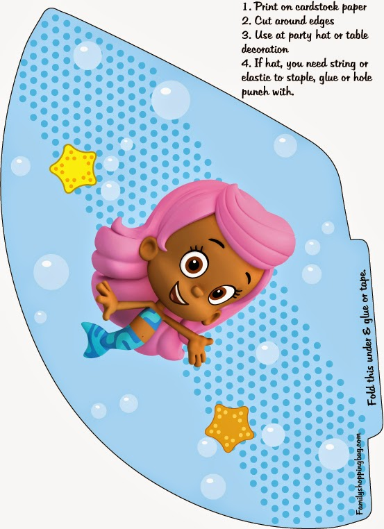 Bubble Guppies: Free Printable  Mini Kit for Parties.