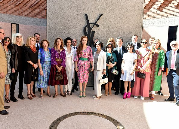 Princess Lalla Salma of Morocco attended opening ceremony of 'Yves Saint Laurent' Museum in Marrakech