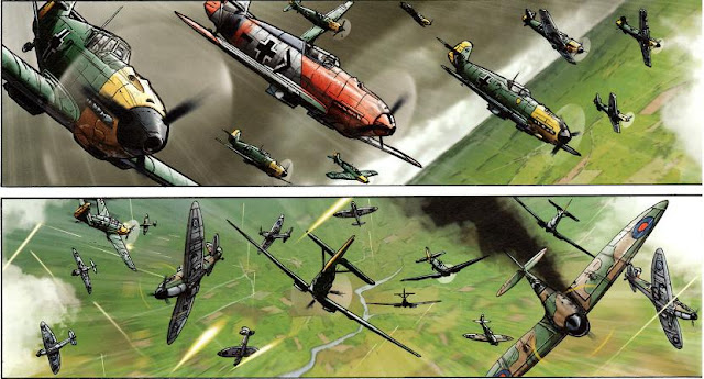 BF109 comic dogfight