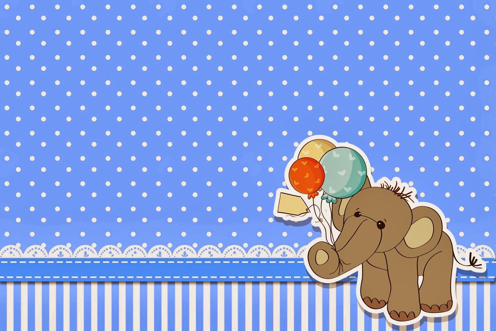 Elefante Para Baby Shower Tarjetas E Invitaciones Para