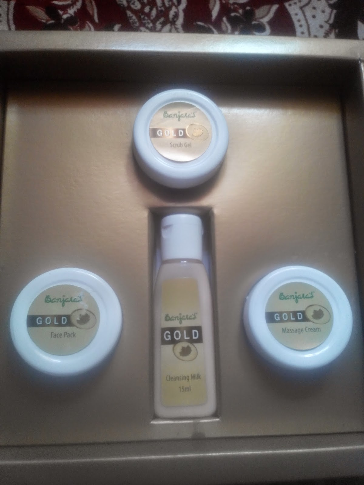 Banjaras Gold Facial Kit, Gold cleansing milk, Gold scrub gel, gold Massage Cream, Gold face pack