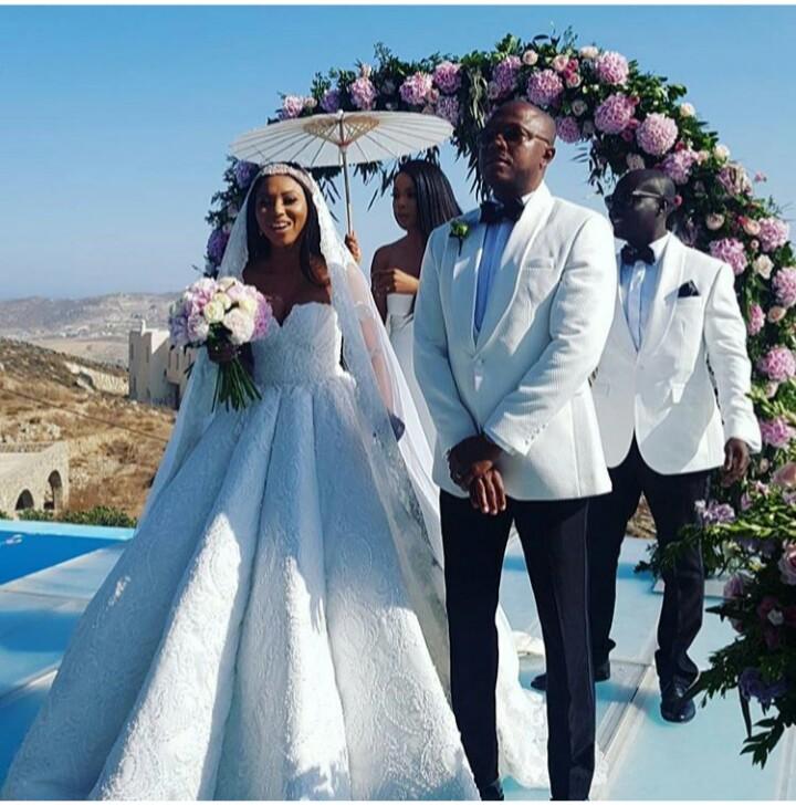 Stephanie Coker and Olumide Adenirokun wed in Greece (Photos)