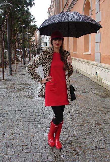 botas para lluvia de dama