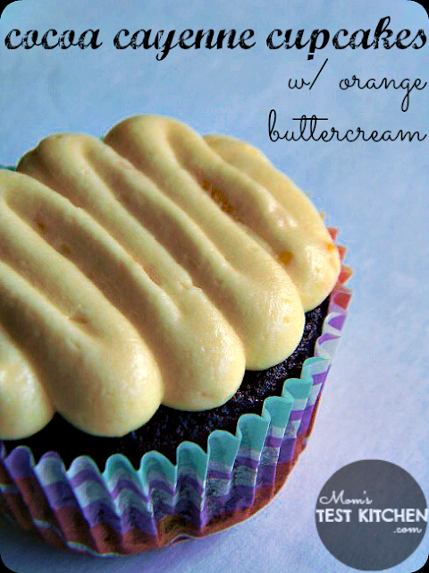 Cocoa Cayenne Cupcakes with Orange Buttercream