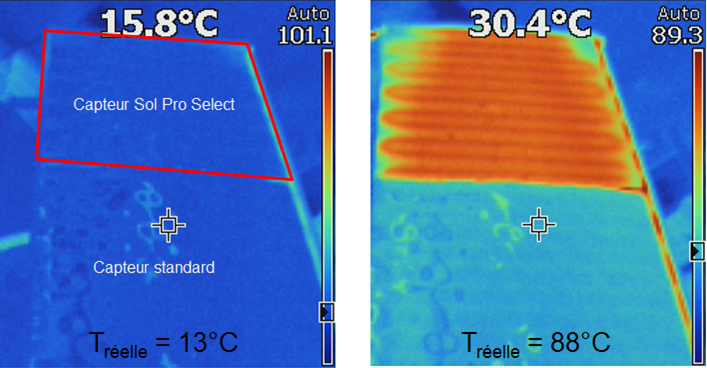 effet thermochrome capteur viessmann vitosol 200-fm