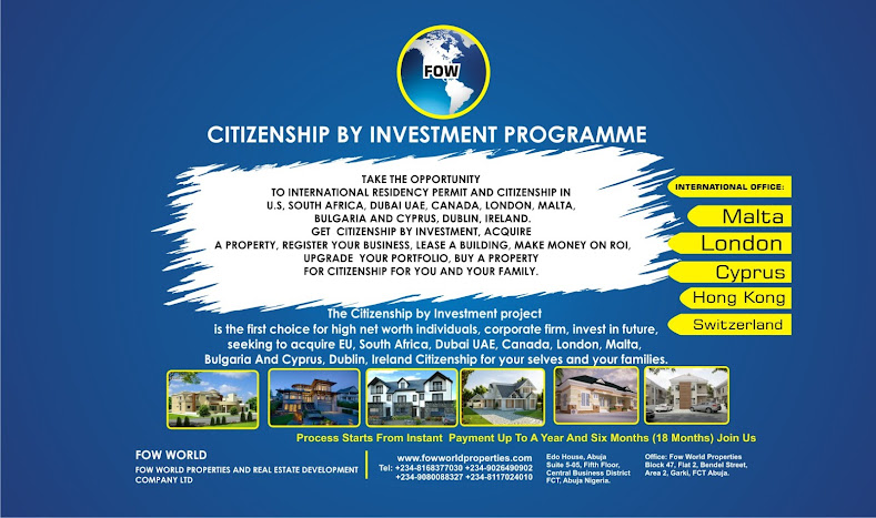 CITIZENSHIP BY INVESTMENT PROGRAMME