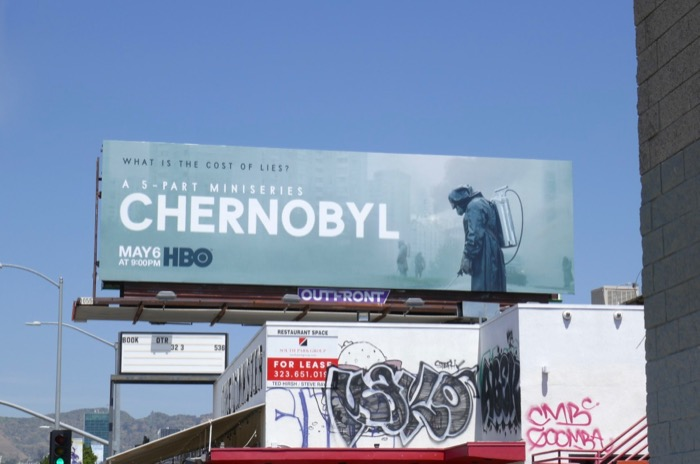 Chernobyl miniseries billboard