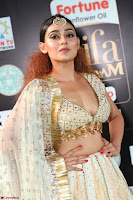 Apoorva Spicy Pics in Cream Deep Neck Choli Ghagra WOW at IIFA Utsavam Awards 2017 07.JPG