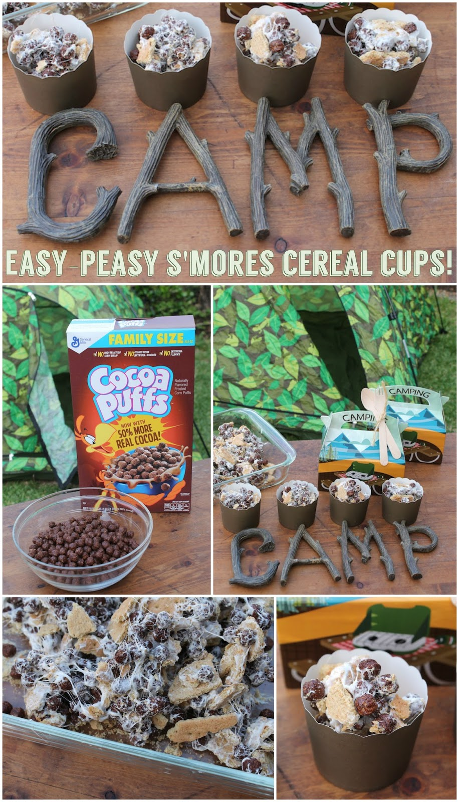easy peasy s u0027mores cereal cups backyard campout recipe laura u0027s
