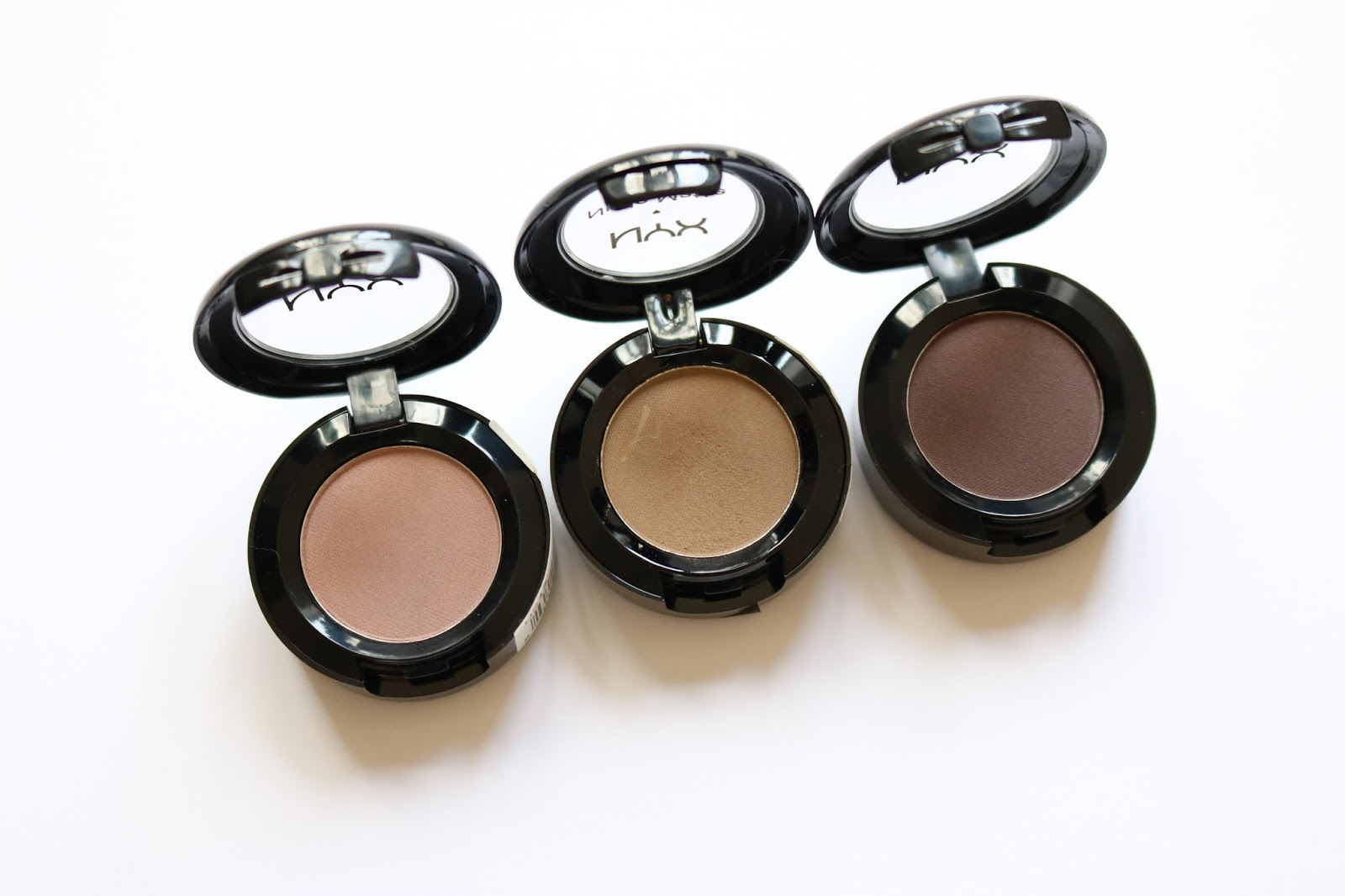 NYX eyeshadows