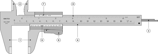 vernier caliper diagram, digital