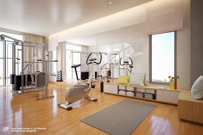 Modern house gym room design idea_01