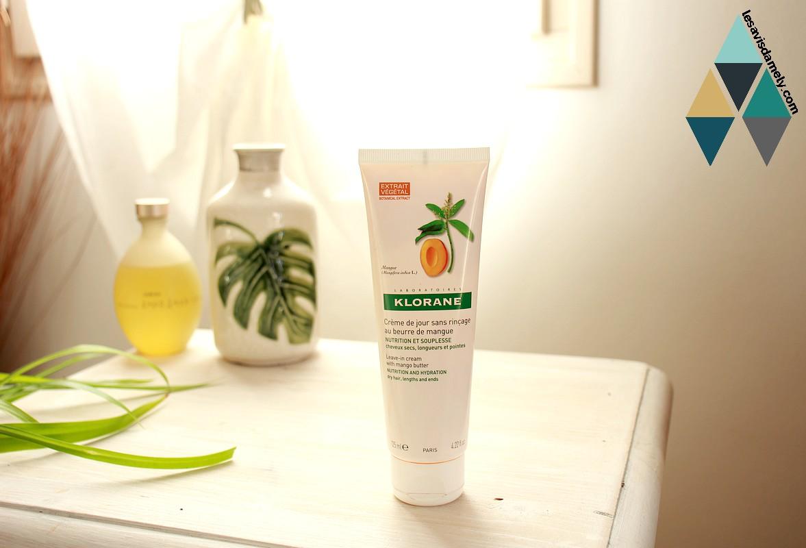 avis soin nutrition pour cheveux secs crème de jour Klorane