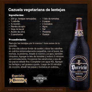 cazuela vegetariana de lentejas
