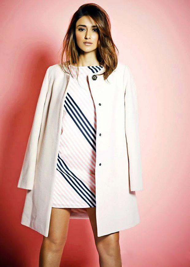 Ileana D'Cruz in pink coat and dress