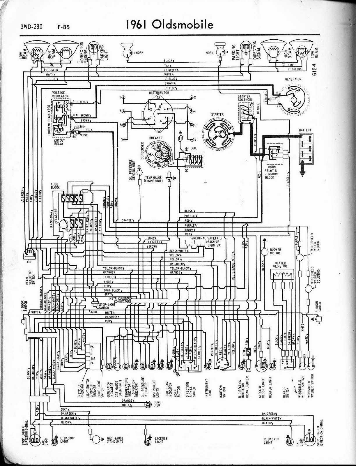 free auto wiring diagram 1961 oldsmobile f 85 wiring diagram. Black Bedroom Furniture Sets. Home Design Ideas