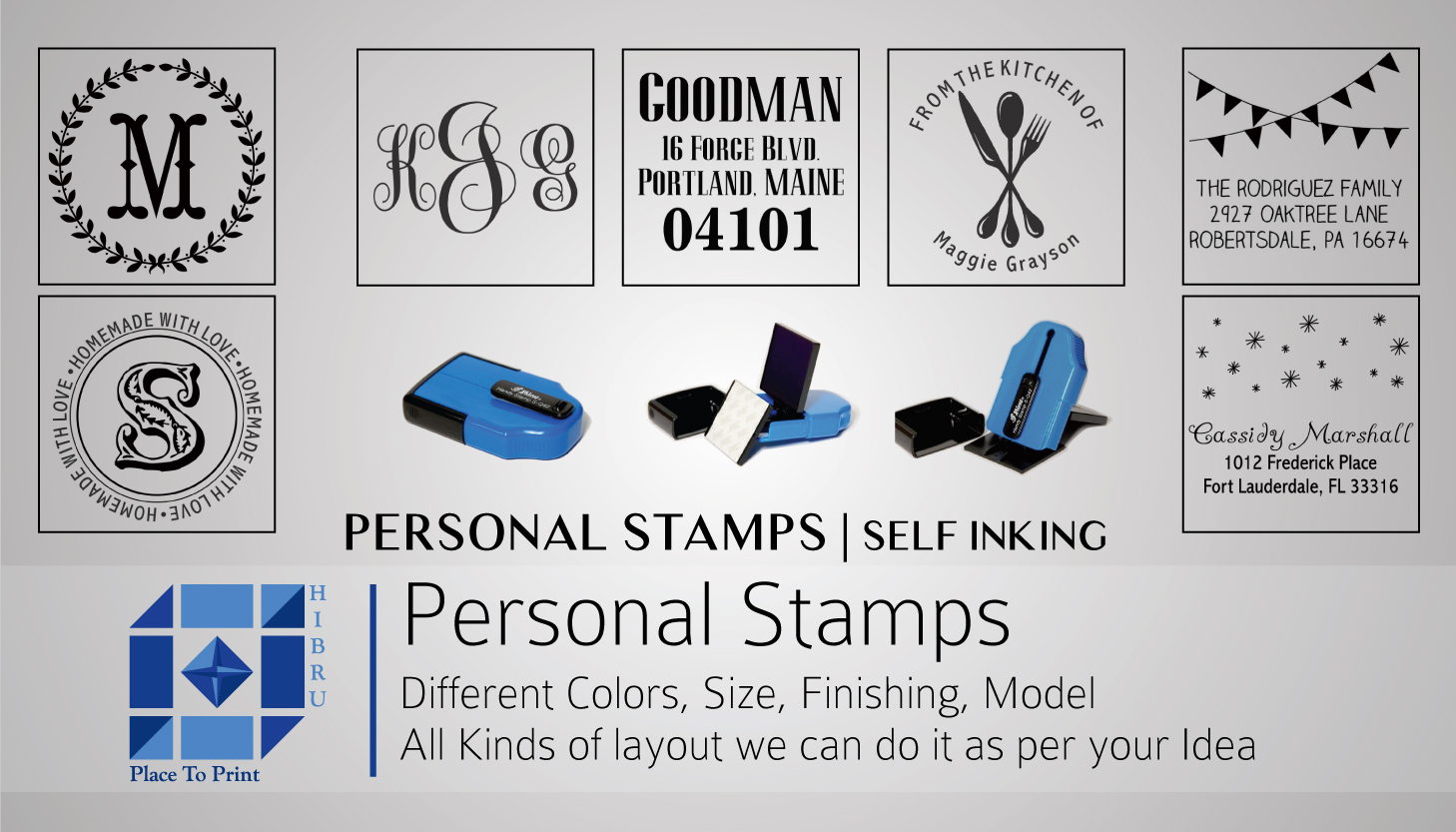 personalised stamps in dubai printing services