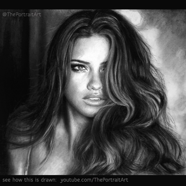 11-Adriana-Lima-Xiaonan-Pencil-Charcoal-and-Pastel-Portrait-Drawings-www-designstack-co