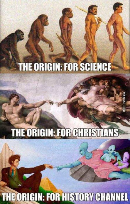 El origen del ser humano según diferentes fuentes