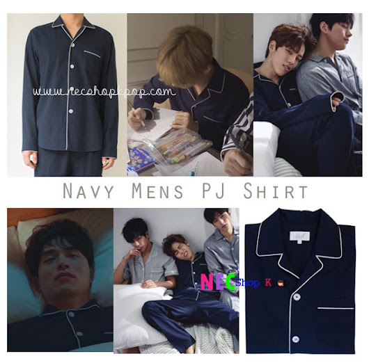 [KOREAN STYLE] Navy Mens Pj shirt