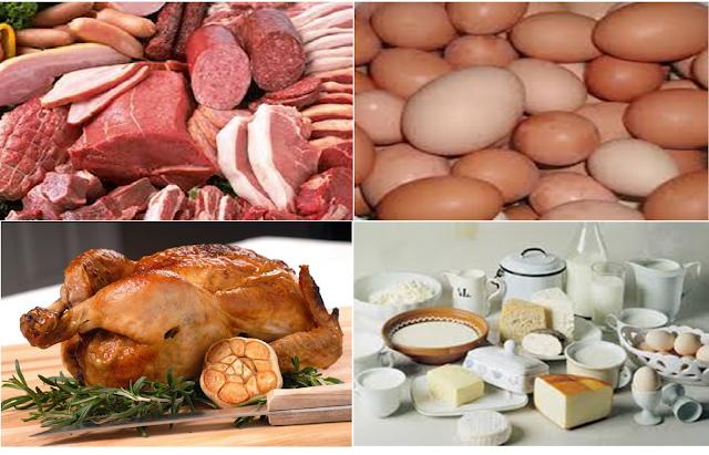 مصادر الأغذية    ، المصادر النباتية، المصادر الحيوانية