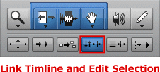 Link Timeline and Edit Selection Button in Pro Tools