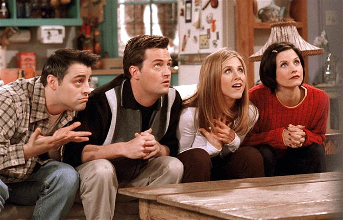 Joey, Chandler, Rachel y Monica en 'Friends'