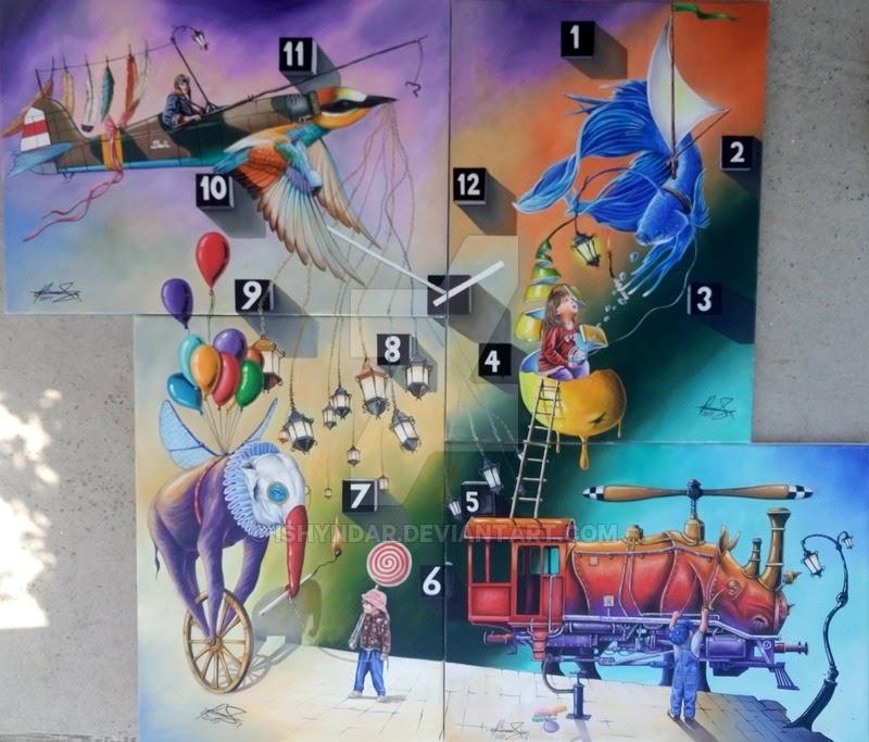 01-Imaginary-Friends-Raceanu-Mihai-Adrian-Ishyndar-Mapping-Surrealism-with-Oil-on-Canvas-www-designstack-co
