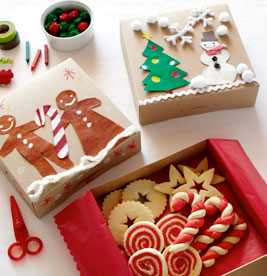 homemade christmas gifts cookies boxes