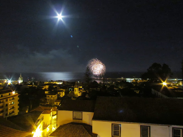 Madeira Atlantic Festival 2013, June, day 22 - Portugal fireworks with the moonlight