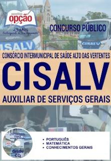 Apostila Concurso CISALV 2017 Auxiliar de Serviços Gerais