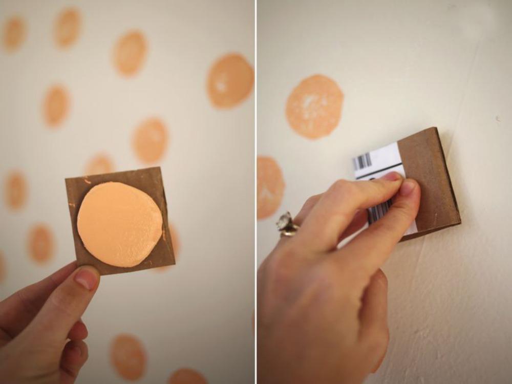 Una pizca de hogar diy estampado f cil de tus paredes - Decorarte pinturas ...