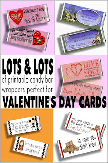 Don't just give a Valentine's Day card this year! Give chocolate AND a card! You'll be the best Valentine EVER and it will be so easy with this round up of LOTS and LOTS of printable Valentine Candy bar wrappers for you to print and give. #valentinesdaygift #candybarwrapper #chocolate #valentinescard #diypartymomblog