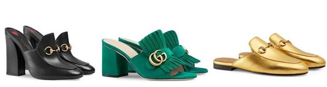 Coleção mule da Gucci