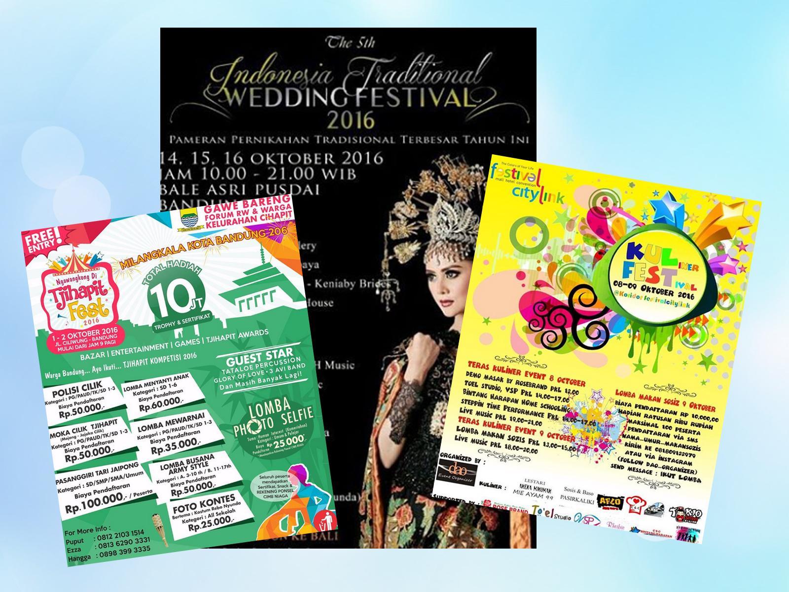 Kalender event Bandung bulan Oktober 2016